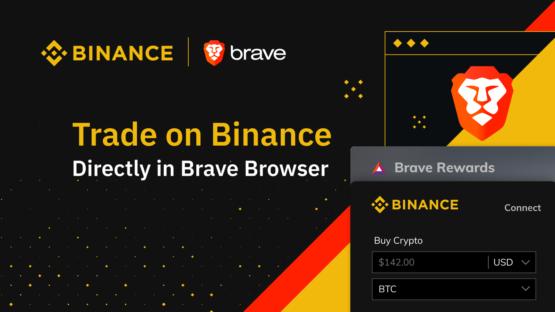 Пример виджета Binance в браузере Brave