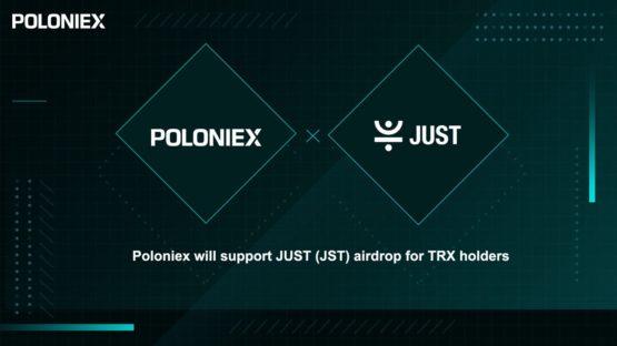 Airdrop токенов JUST для холдеров трона на Poloniex