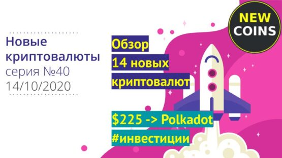 Обзор новых криптовалют с агрегаторов Коингекко и Коинмаркеткап и инвестция в Полькадот