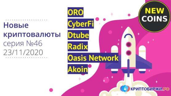 Обзор Oasis Network, Radix, Dtube и ещё 4 криптовалют