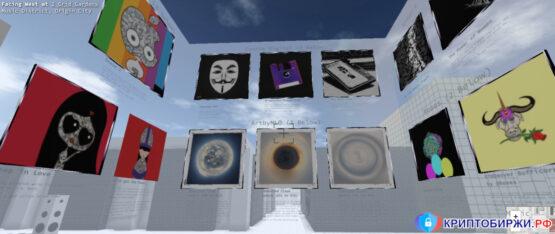 Галерея цифрового искусства в Cryptovoxels